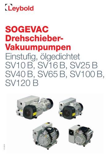 SOGEVAC Drehschieber- Vakuumpumpen