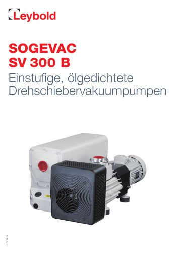 SOGEVAC SV 300 B