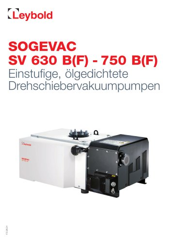 SOGEVAC  SV 630 B(F) -  750 B(F)