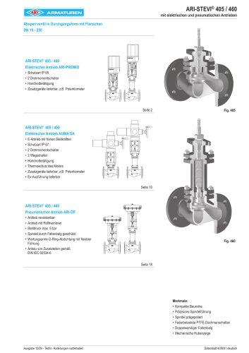 Absperrventil in Durchgangsform DN 15-250
