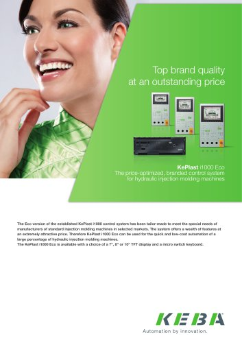 KePlast i1000eco - The price-optimized, branded control system for hydraulic injection molding machines