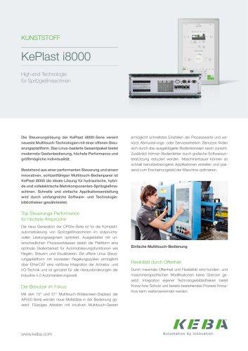 KePlast i8000 - High-end Technologie  für Spritzgießmaschinen
