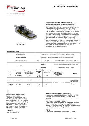 32 77101A0x Geräteblatt