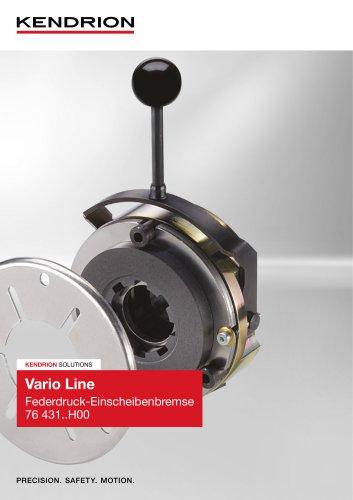 Federdruckbremse - Vario Line (Deutsch)