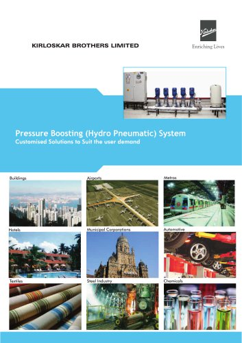 Pressure Boosting Hydro-Pneumatic System Catalogue (HYPN)