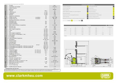 Datenbaltt CLARK C PS 12H