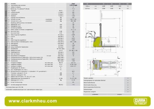 Datenblatt CLARK C PS 10 Light