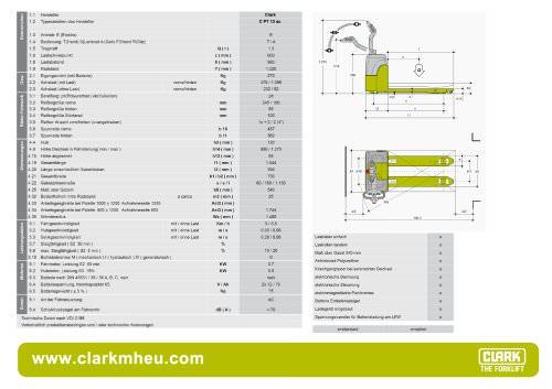 Datenblatt CLARK C PT 13 ac
