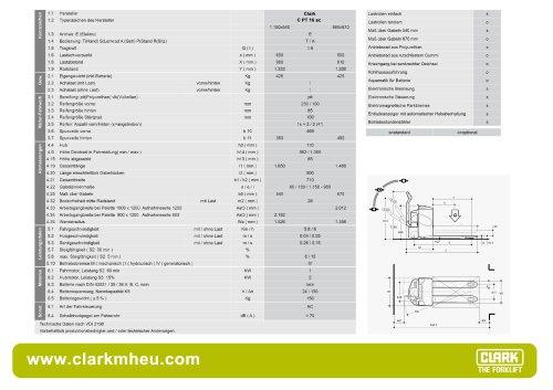 Datenblatt CLARK C PT 16 ac