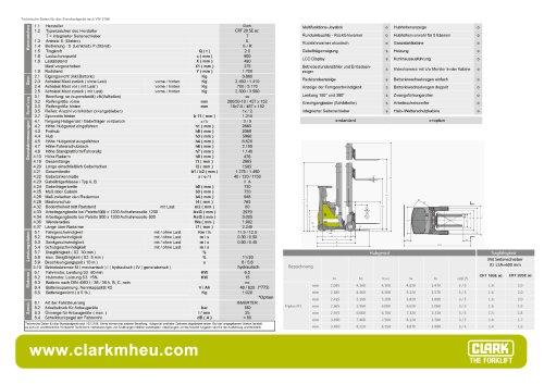Datenblatt CLARK C RT 20 SE ac
