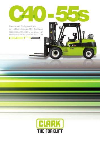 Gabelstapler mit Diesel- oder Treibgasantrieb C40-55s