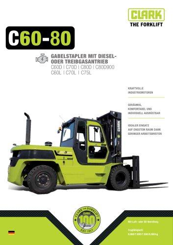 Gabelstapler mit Diesel- oder Treibgasantrieb C60-80