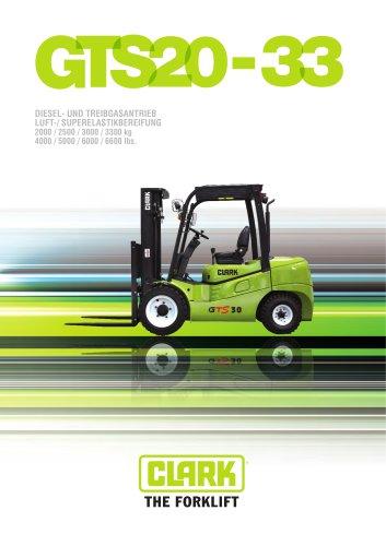 Gabelstapler mit Diesel- oder Treibgasantrieb GTS20-33
