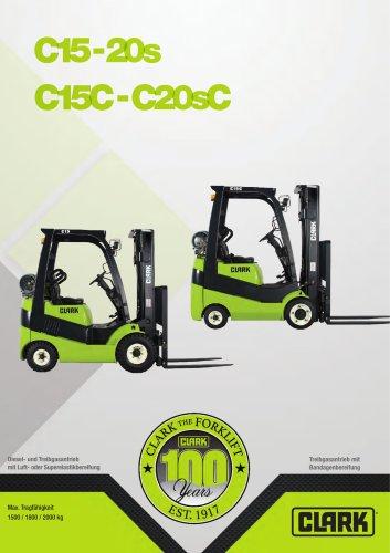 Kompakter Gabelstapler mit Treibgasantrieb C15-20sC