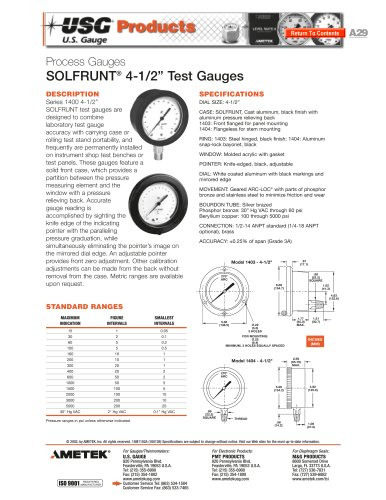 1400 Series Test Gauges