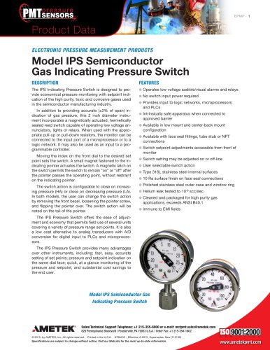 Model IPS Semiconductor Gas Indicating Pressure Switch