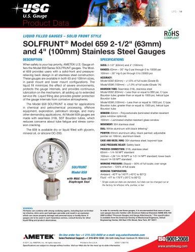 SOLFRUNT® Model 659 2-1/2