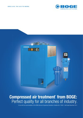 Compressed air treatment* from BOGE
