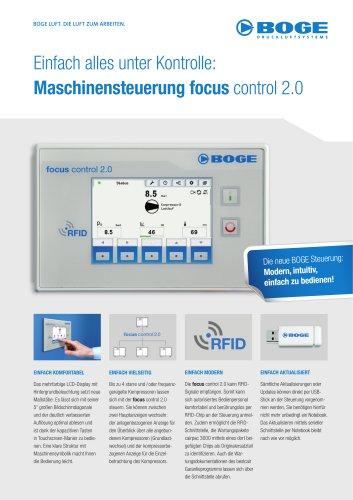 Einfach alles unter Kontrolle:Maschinensteuerungfocus control 2.0