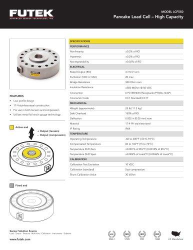 MODEL LCF550 Pancake Load Cell – High Capacity