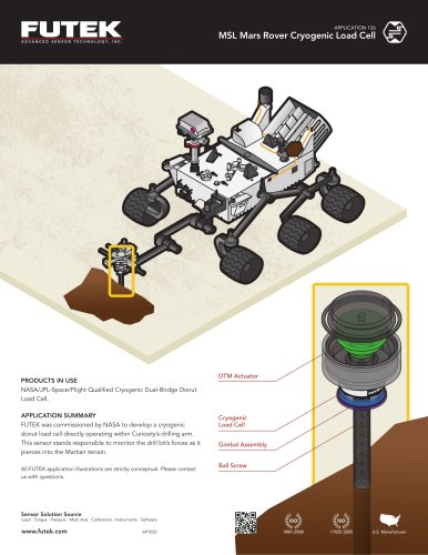MSL Mars Rover Cryogenic Load Cell