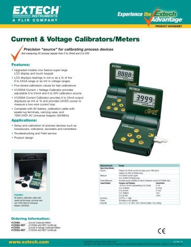412300A: Current Calibrator/Meter