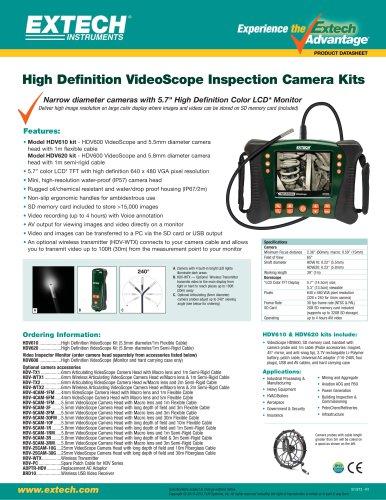HDV620: HD VideoScope Kit with 5.8mm Semi-Rigid Probe