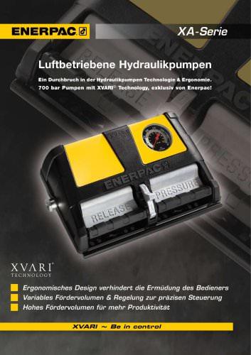 Enerpac XA Serie Luftbetriebene Hydraulikpumpen