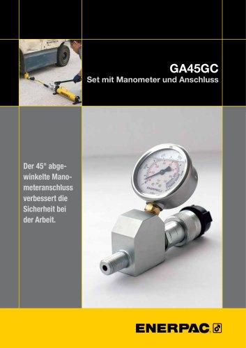 GA45GC Set mit manometer und Anschluss
