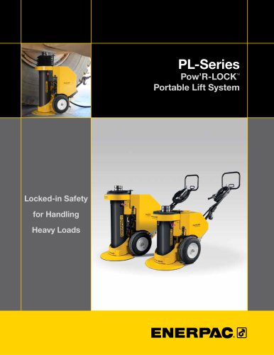 PL-Series Pow'R-LOCK Self-Locking Portable Lift System 2014
