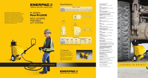 PL-Series Pow'R-LOCK Self-Locking Portable Lift System