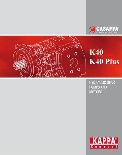 HYDRAULIC GEAR PUMPS AND MOTORS K40 / K40 Plus
