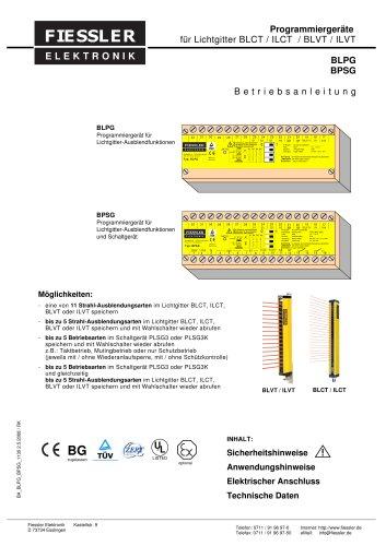 Betriebsanleitung des Programmiergerätes für BLCT