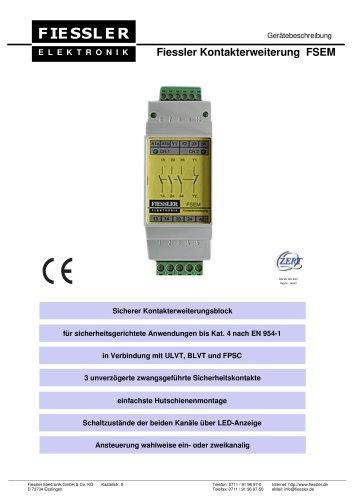 FSEM - Kontakterweiterung für ULVT, BLVT und FPSC Gerätebeschreibung