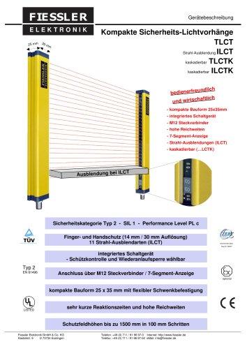 ILCT - Sicherheitslichtvorhang Typ 2 mit Blankingfunktion Gerätebeschreibung