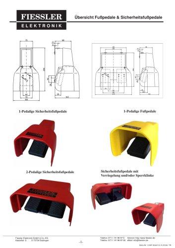 Übersicht Fußpedale & Sicherheitsfußpedale