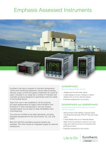 Eurotherm Emphasis Assessed Instruments (HA031857 Issue 2)