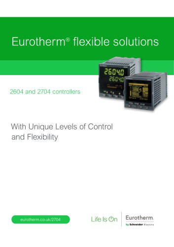Eurotherm® flexible solutions 2604 and 2704 controllers