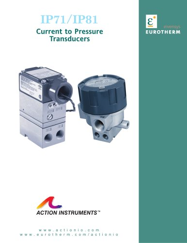 IP71/IP81 Current to Pressure Transducers