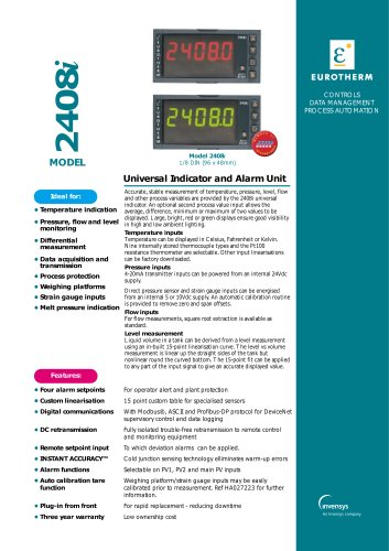 Universal Indicator and Alarm Unit