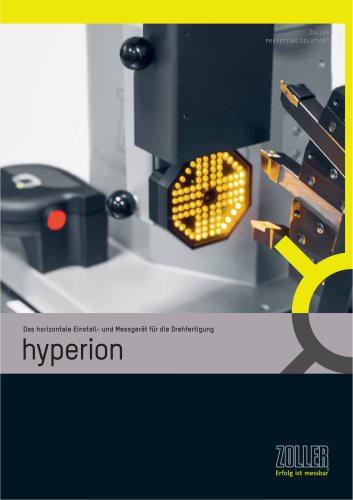 Das horizontale Einstell- und Messgerät für die Drehfertigung »hyperion«