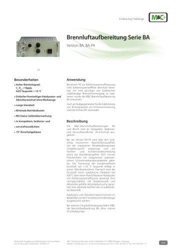 Brennluftaufbereitung Serie BA