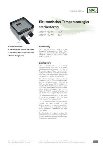 Elektronischer Temperaturregler steckerfertig