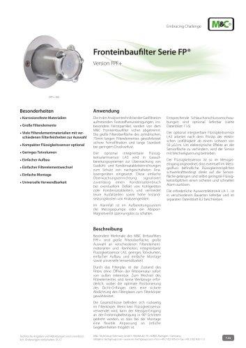 Fronteinbaufilter Serie FP®