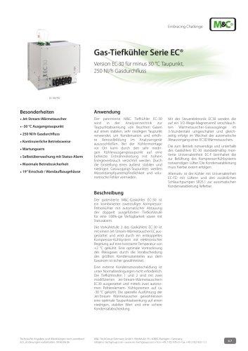 Gas-Tiefkühler Serie EC®