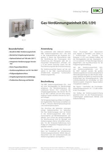 Gas-Verdünnungseinheit DIL-1/(H)