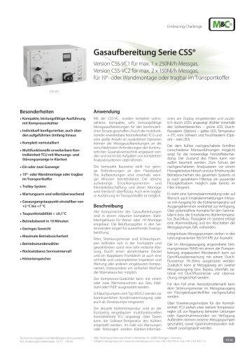Gasaufbereitung Serie CSS®
