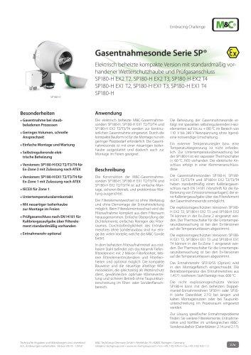 Gasentnahmesonde Serie SP®