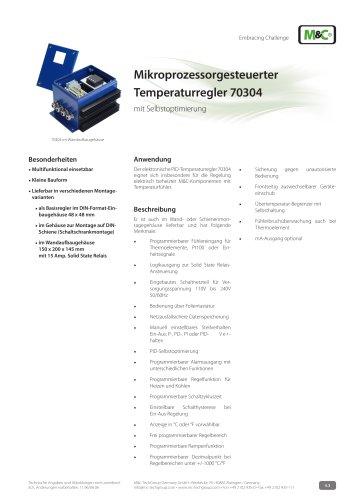Mikroprozessorgesteuerter Temperaturregler 70304