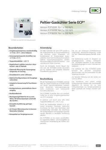 Peltier-Gaskühler Serie ECP®